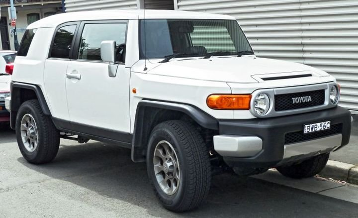 As an example of this analysis, Black Book data shows that the Toyota FJ Cruiser, whose last model-year was 2014, has actually gone up in value by 25.7% compared to other vehicles that were listed in its segment.  - Photo via Wikimedia Commons.