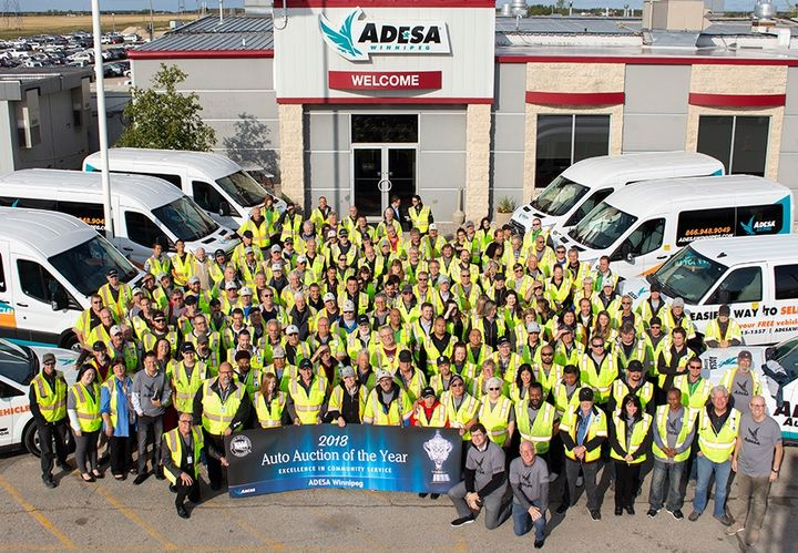 ADESA Winnipeg is based in Manitoba, Canada and received the award for its involvement in more than 55 charitable activities that raised $5.2 million in donations.