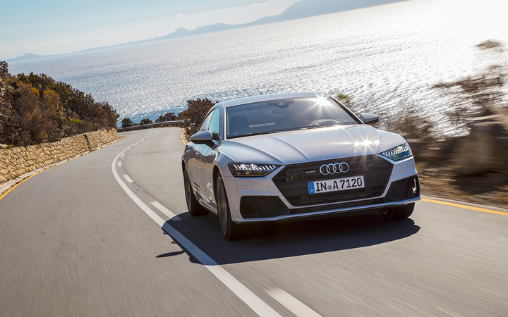 The Audi A7 was the top-scoring model in J.D. Power's latest APEAL study, but the German factory placed fourth among all manufacturers, trailing Porsche, BMW, and Genesis.  - Photo courtesy Audi USA.