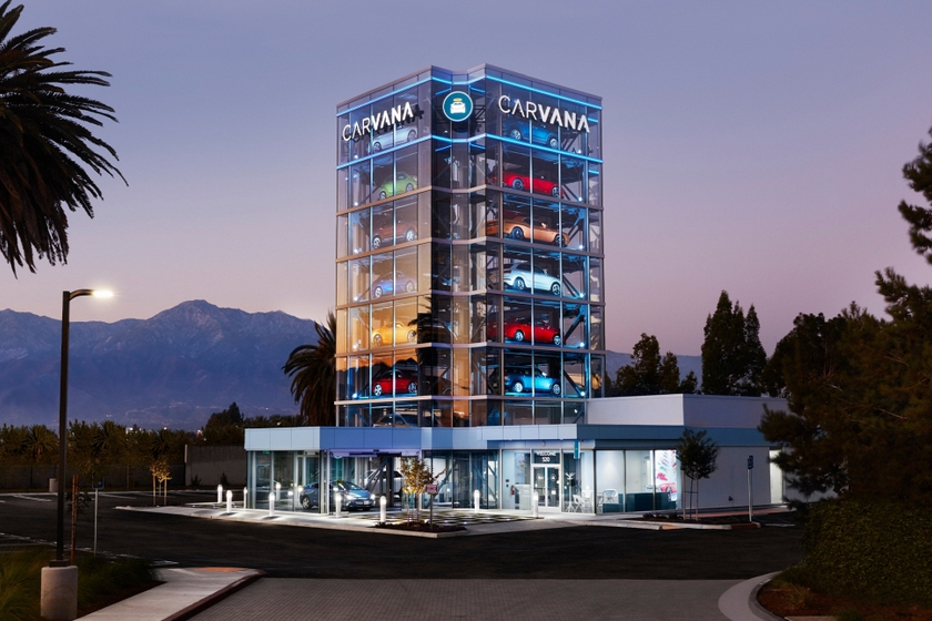 The vending machine offers people who have purchased a used vehicle through Carvana's online...