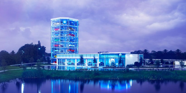 For the second time this week, Carvana announced a new vending machine location, this time in Orlando, Fla.  - Photo courtesy of Carvana.