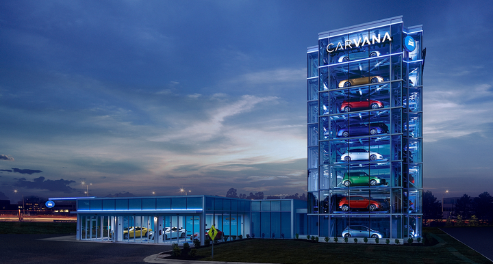 Including this machine, Carvana now operates 20 car vending machines throughout the U.S. - Photo courtesy of Carvana.