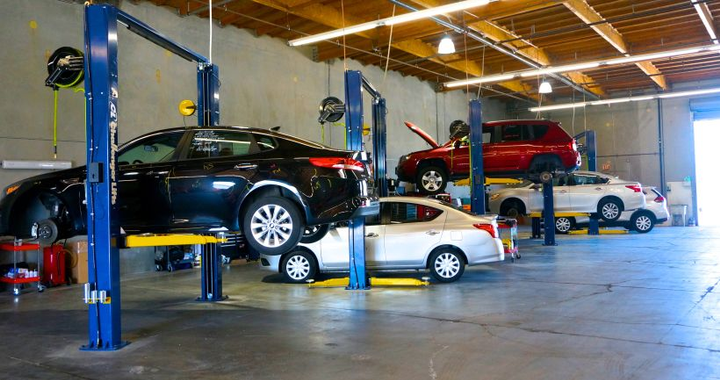 A new reconditioning facility at Manheim San Francisco Bay that cost $500,000 to build. Since 2014, Manheim has spent $400 million to enhance the operations at its 78 auctions nationwide. 