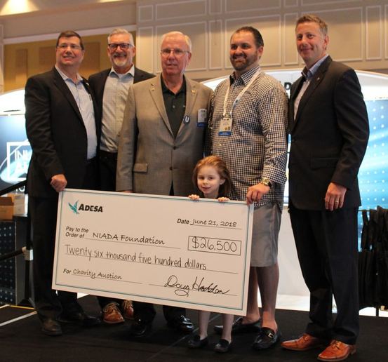 Chris Haus, the owner of Haus Auto Group, placed the winning bid of $26,500 for a 2018 Honda Accord. 