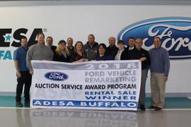 ADESA Buffalo Earns Ford Auction Service Award Program Awards