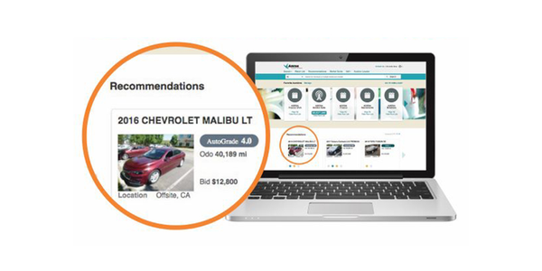 Available to eligible subscribing customers on ADESA.com, the Recommendations carousel was...