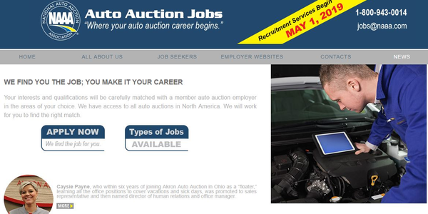 Auto Auction Jobs will be a free service that provides information about careers in the...