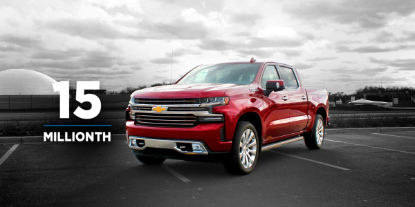 The 15 millionth vehicle sold was a 2019 Chevrolet Silverado High Country which had previously...