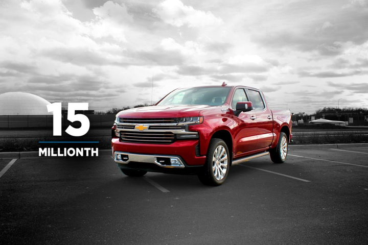 The 15 millionth vehicle sold was a 2019 Chevrolet Silverado High Country which had previously been a company car.  - Photo courtesy of General Motors.