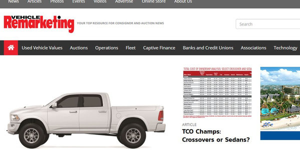 Screenshot of VehicleRemarket.com