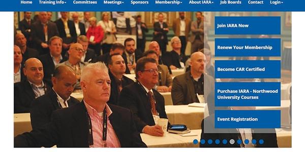 Screencap of IARA's website.