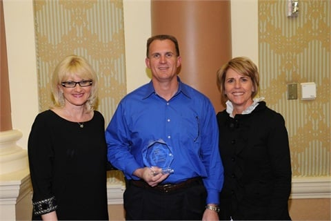 (L-R) NAAA President Charlotte Pyle; Jerry Barker General Manager, Greensboro Auto Auction; Janet Barnard Manheim EVP and COO.