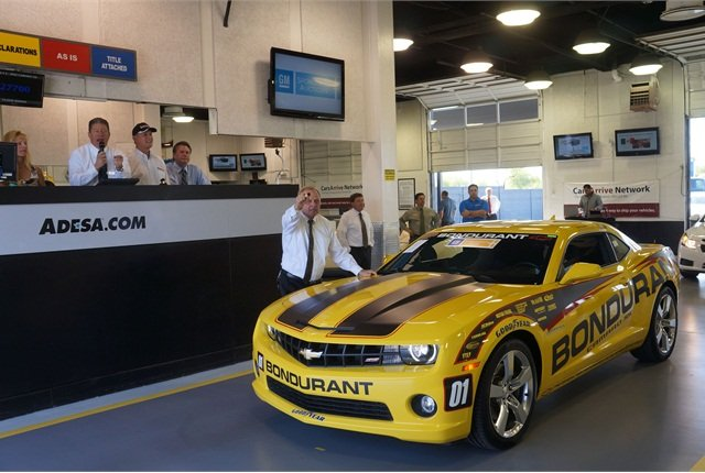Bondurant helped auction off a 2012 Chevrolet Camaro SS show car from the school. This year marks the 45thyear the school has been in operation.
