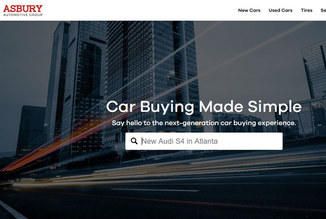 Screenshot of Asbury website.