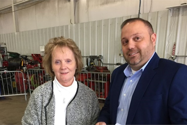 Photo of Sally Saldamarco, office manager, (left) and Tony Saldamarco, sales manager courtesy of CAA.
