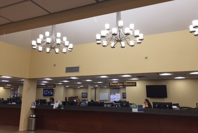 Photo of the new LED lighting in Manheim Orlando courtesy of Manheim.