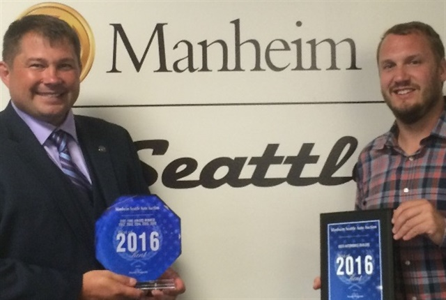 (l to r) General Manager Ray Priest and Assistant General Manager David Hennessey. Photo courtesy of Manheim.