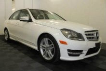 A polar white 2013 Mercedes C250W is being auctioned off live June 24. PHOTO: NIADA
