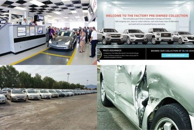 (Clockwise l. to r.) Managing depreciation, GM's online program, damaged vehicles, and remarketing partnerships