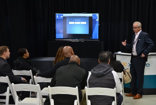 Xtime was one of the Cox Automotive companies that participated in the inaugural training fair. (PHOTO: Manheim)