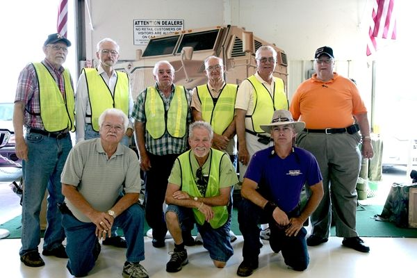 (top row, L-R) Carolina AA employees Ray Thomas, Jim Hertig, Kenneth Leopard, James Ownes, Bob...