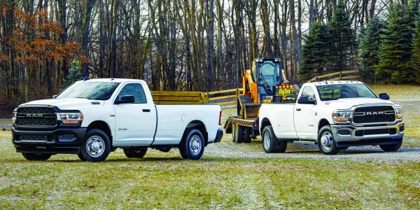 The Ram 2500 and 3500 Heavy Duty offers a towing capacity of 35,100 pounds and a payload...