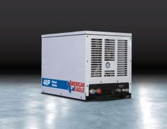 American Eagle released a new lightweight, 40CFM above deck, hydraulically driven air...