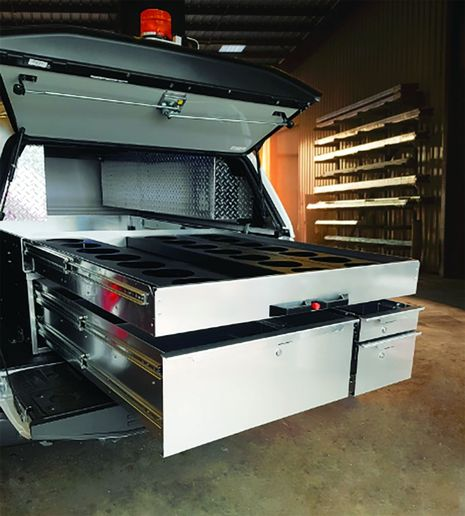 EZ STAK Truck Drawer with Meter Tray - Photo: EZ STAK