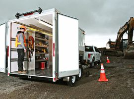 EZ STAK optimizes mobile workspaces for 12- to 53-foot trailers. Whether you need interior cabinets or a full upfit with lighting and power, EZ STAK is your one-stop-shop. At NTEA The Work Truck Show 2020, EZ STAK will have a 12-foot trailer on display, which includes, closets, lockers, drawers, two work stations, interior and exterior lighting, and exterior cabinet to store a portal generator. See how EZ STAK can turn your trailer into an optimized mobile workspace.