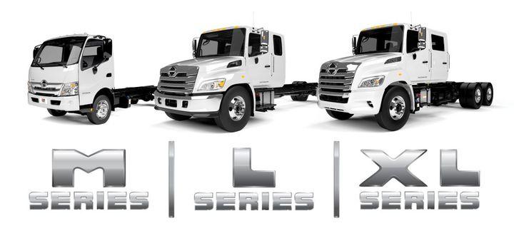 Hino Truck Lineup - Photo: Hino Trucks