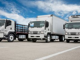 Isuzu's Class 6 low-cab-forward truck, the 2020 FTR features a 25,950-pound GVW and wheelbases...