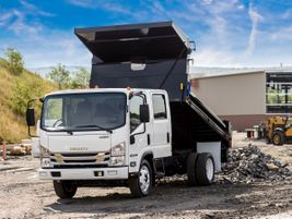 The 2019 Isuzu NPR-HD gas is a low-cab forward Class 4 truck that features a 14,500-pound GVWR....