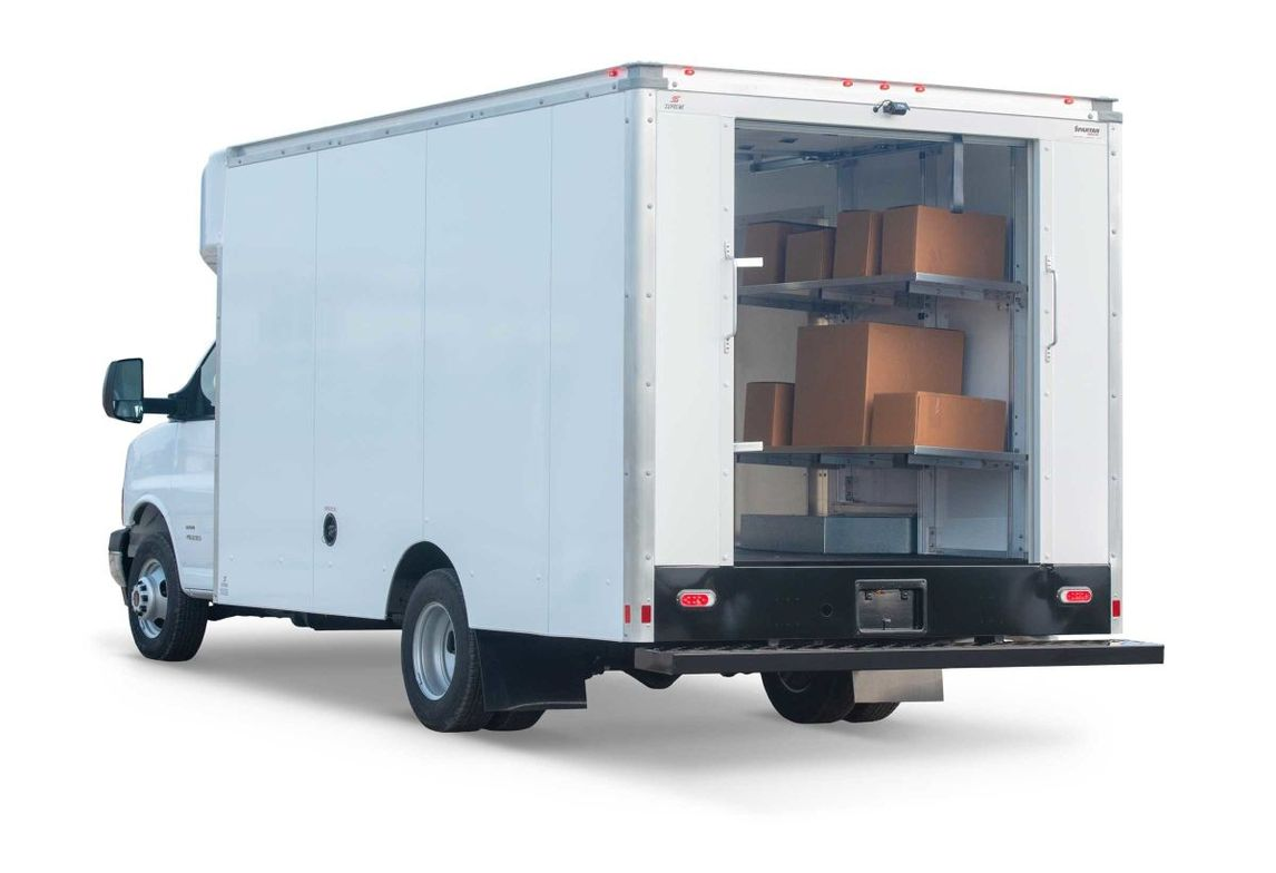 Supreme offers a flexible shelving solution for efficient package transport. The fold-up design...