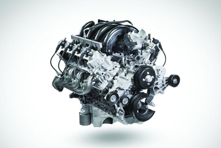 The 7.3L V-8 features an overhead valve architecture that helps get heavier loads moving sooner due to power low in rev range. - Photo: Ford Motor Co.