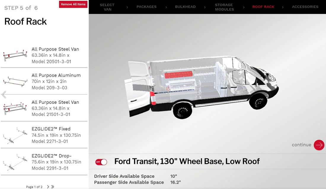 3D Configuring Helps Fleets Build the Ideal Work Van