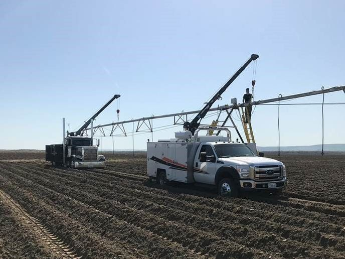 The VMAC system works well to power the farm's cranes.  - Photo: VMAC