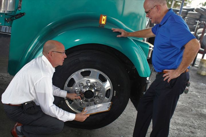 How drivers take care of their tires can be easily tracked when the truck returns to the terminal. - Photo: Cooper Tire