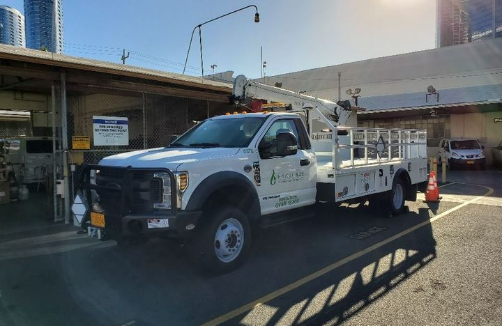 Operating in Hawaii requirements additional planning and lead time when replacing truck models. Hawaii Gas has set a replacement strategy to get ahead of lead times.  - Photo: Hawaii Gas