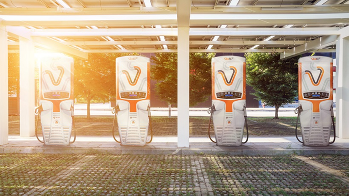 Gilbarco Veeder-Root Veefil-RT electric charging stations. - Photo: Gilbarco Veeder-Root