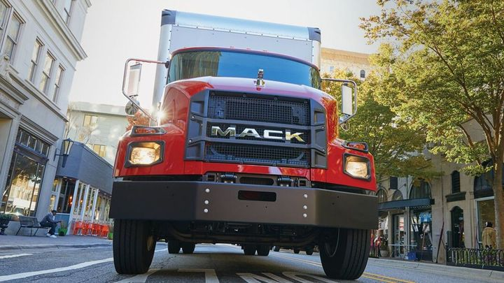 The Mack MD Series is also equipped with Geotab Go with one year of included service, which helps maximize uptime. - Photo: Mack Trucks