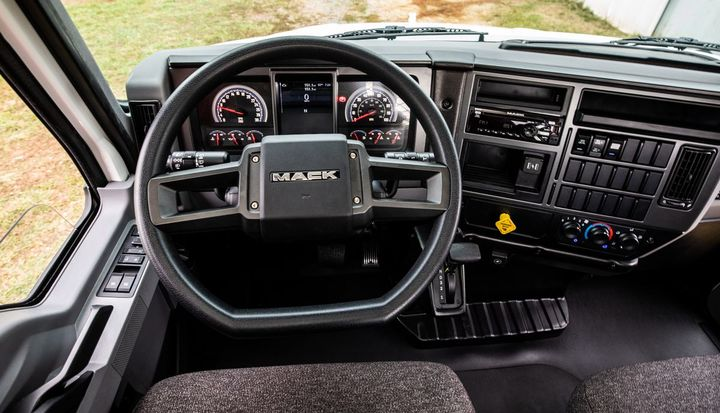 Mack included an ergonomically designed instrument panel featuring durable materials and a Mack Anthem-inspired instrument cluster.  - Photo: Mack Trucks