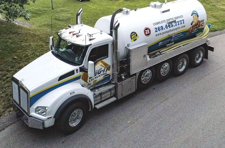 The company is in the process of putting its newest truck – a Kenworth T880 equipped with a PACCAR MX-13 engine and a 4,500-gallon Curry Supply vacuum tank – into service. - Photo: Kenworth