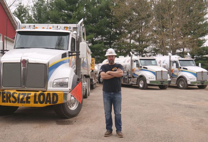 Dervin Witmer is the owner and founder of Dig-it Excavating, a small, family-owned business in Michigan. - Photo: Kenworth