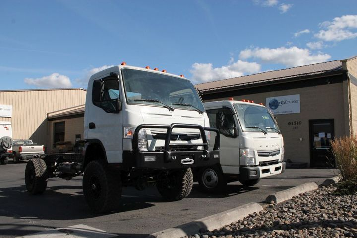 The trucks are currently built on Mitsubishi Fuso FE140 or FE160 single cab and dual cab chassis. - Photo: EarthCruiser