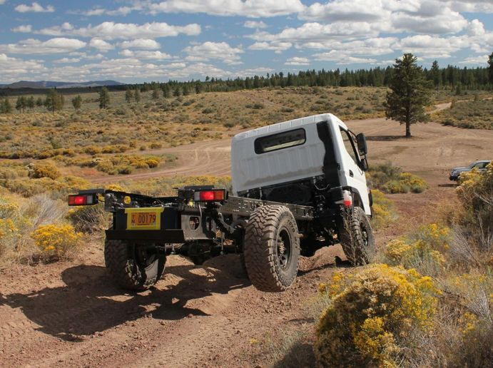 CORE was created to meet the growing demand for high-performing 4X4 chassis for commercial and DIY overland vehicle builder use. The first product available is a production V-8 cab-over chassis, upfitted with CORE's proprietary four-wheel-drive system. - Photo: EarthCruiser