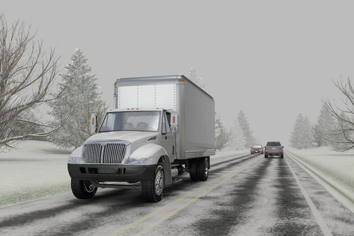 The traditional advice to reduce speed in winter conditions isn't enough to keep drivers (and their trucks) safe. - Photo: ITI