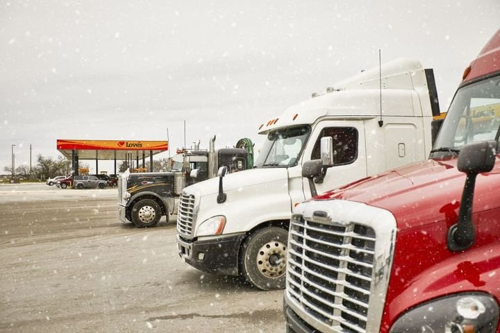 Love's notes that in all weather, drivers need to be aware of warnings in local areas — having a good logistics team is important in these situations. - Photo: Love's