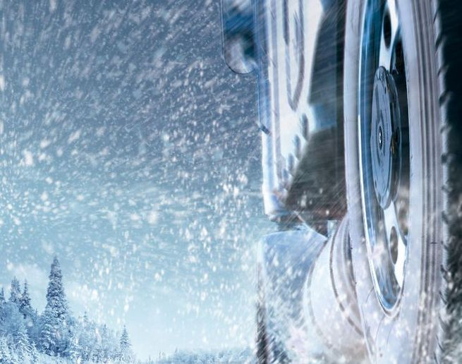 Winter road surfaces can change rapidly, and without warning, from ice to sleet to slush. Snow can make driving with low tread unmanageable and dangerous for everyone. - Photo: Aperia Technologies