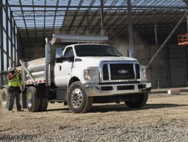 The Ford F-650 and F-750 are conventional chassis cab trucks available with the 7.3L gasoline...