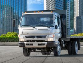 The FUSO FE180 GAS features a GM 6.0L gasoline engine paired to an Allison 1000 Series 6-speed...